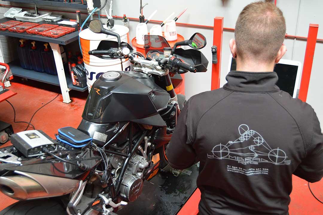 Diagnostico de inyección en moto