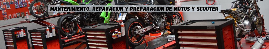 Mantenimiento, reparación y preparación de motos y scooter